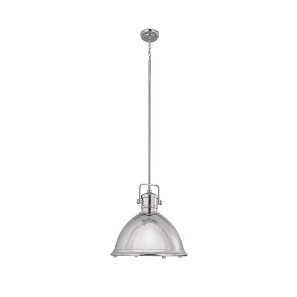 Capital Lighting One Light Pendant 4433PN Coastal Lighting