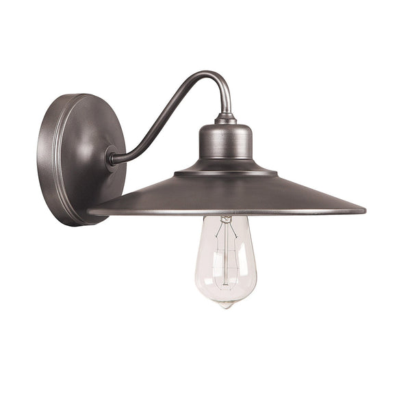 Capital Lighting One Light Sconce 4191GR Coastal Lighting
