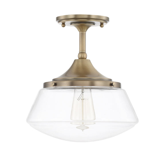 Capital Lighting One Light Semi-Flush 3533AD-134 Coastal Lighting
