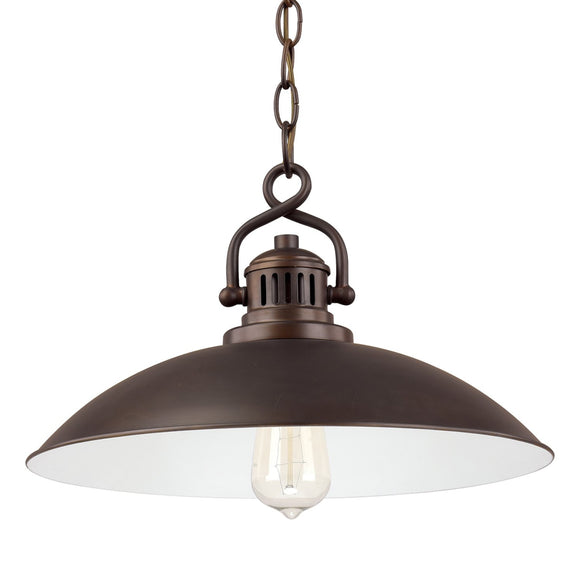 Capital Lighting ONeal One Light Pendant 3798BB Coastal Lighting