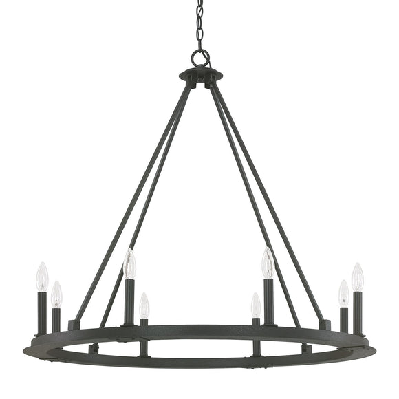 Capital Lighting Pearson Eight Light Chandelier 4918BI-000 Coastal Lighting