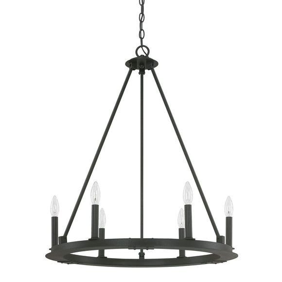 Capital Lighting Pearson Six Light Chandelier 4916BI-000 Coastal Lighting