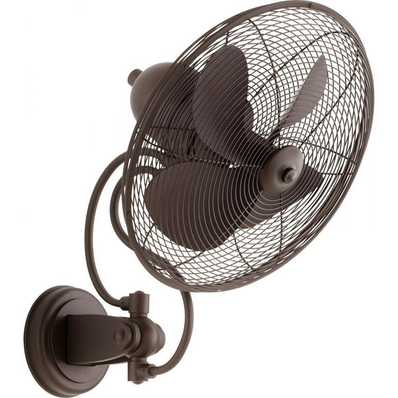 Quorum Piazza Patio Fan 941144-86 Oiled Bronze Coastal Lighting