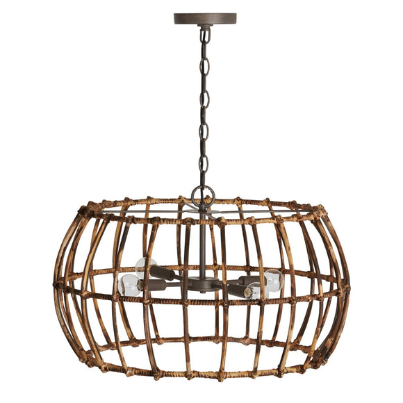 Capital Lighting 4 Light Pendant 335742BY Coastal Lighting