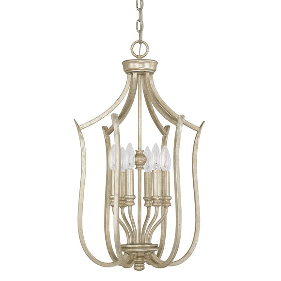 Capital Lighting Six Light Foyer Fixture 4728WG Coastal Lighting