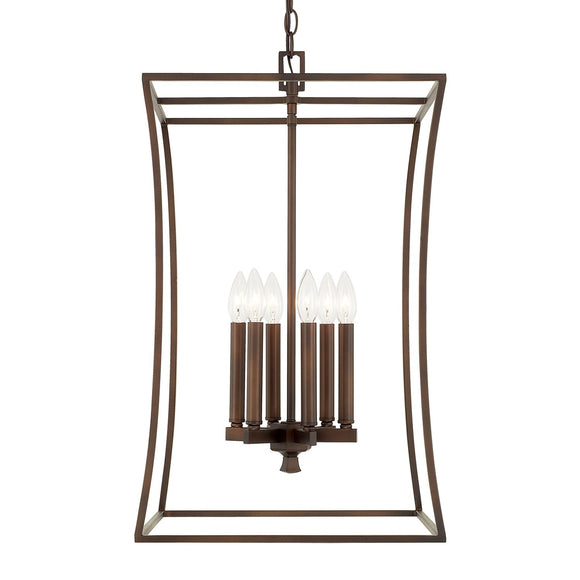 Capital Lighting Six Light Foyer Pendant 510161BB Coastal Lighting