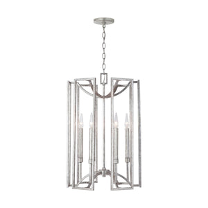 Capital Lighting Six Light Foyer Pendant 532461AS Coastal Lighting