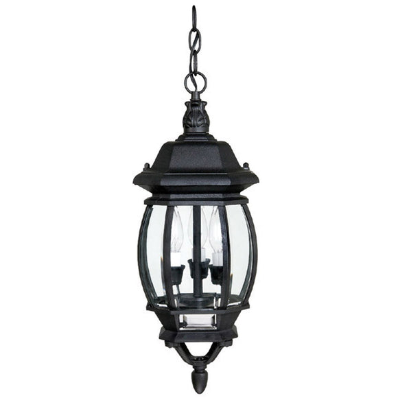 Capital Lighting Three Light Hanging Outdoor Lantern 9864BK Coastal Lighting