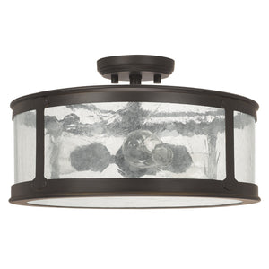 Capital Lighting Three Light Outdoor Semi-Flush 9567OB Coastal Lighting