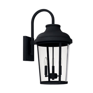 Capital Lighting Three Light Outdoor Wall Lantern 927032BK Coastal Lighting