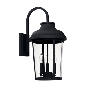 Capital Lighting Three Light Outdoor Wall Lantern 927031BK Coastal Lighting