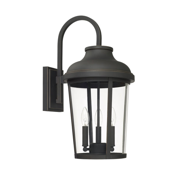 Capital Lighting Three Light Outdoor Wall Lantern 927031OZ Coastal Lighting
