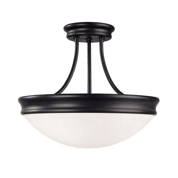 Capital Lighting Three Light Semi-Flush Mount 2037MB Coastal Lighting
