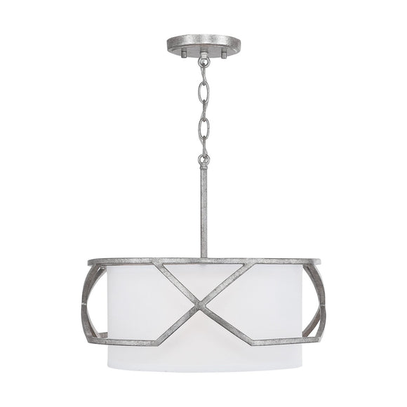 Capital Lighting Three Light Semi-Flush Mount 232431AS Coastal Lighting
