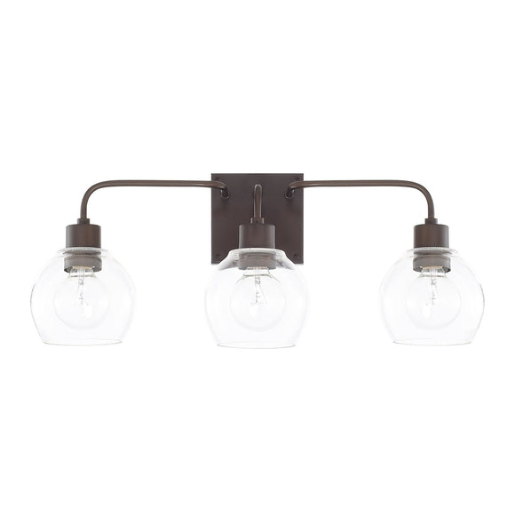 Capital Lighting Three Light Vanity 120031BZ-426 Coastal Lighting