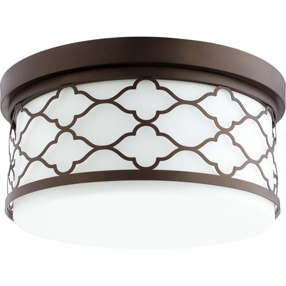 Quorum Trellis Flush Mount 343-12-86 12 / Oiled Bronze Coastal Lighting