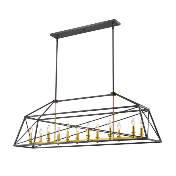 Z-Lite Tressle Linear Chandelier 447-36 Coastal Lighting