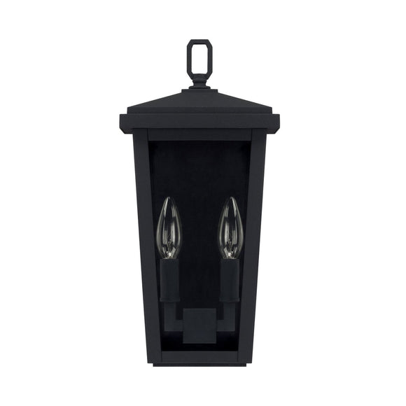 Capital Lighting Two Light Outdoor Wall Lantern 926221BK Coastal Lighting