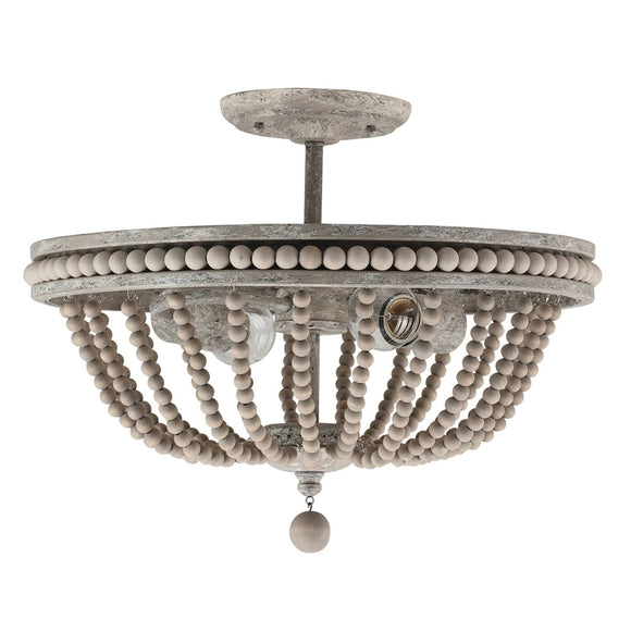 Capital Lighting Two Light Semi Flush Mount 229521MS Coastal Lighting