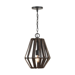 Capital Lighting Walker One Light Pendant 330711RI Coastal Lighting