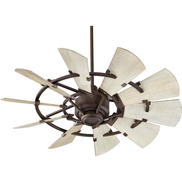 Quorum Windmill Ceiling Fan - Oiled Bronze - Outdoor 194410-86 44 inch Coastal Lighting