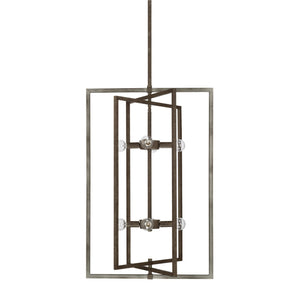 Capital Lighting Zac Eight Light Foyer Chandelier 525981UG Coastal Lighting