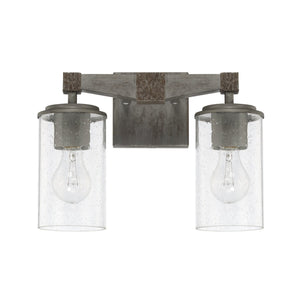 Capital Lighting Zac Two Light Vanity Fixture 125921UG-435 Coastal Lighting