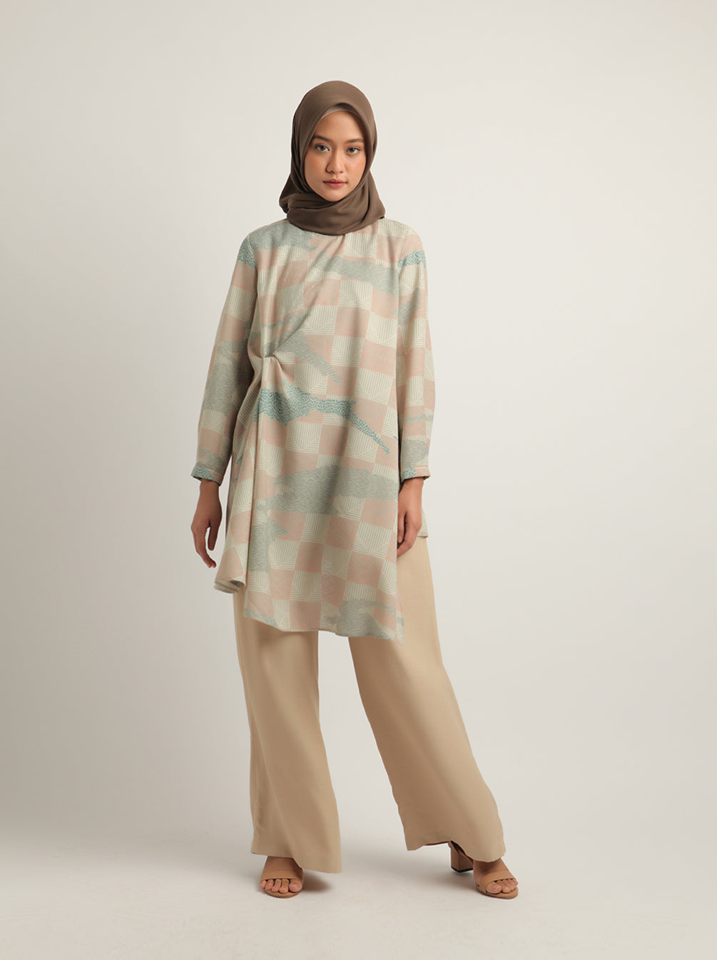 AIZA BREASTFEEDING TUNIC DUSTY BLUE