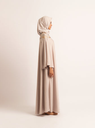 ARACELI DRESS WITH EMB CLOUD