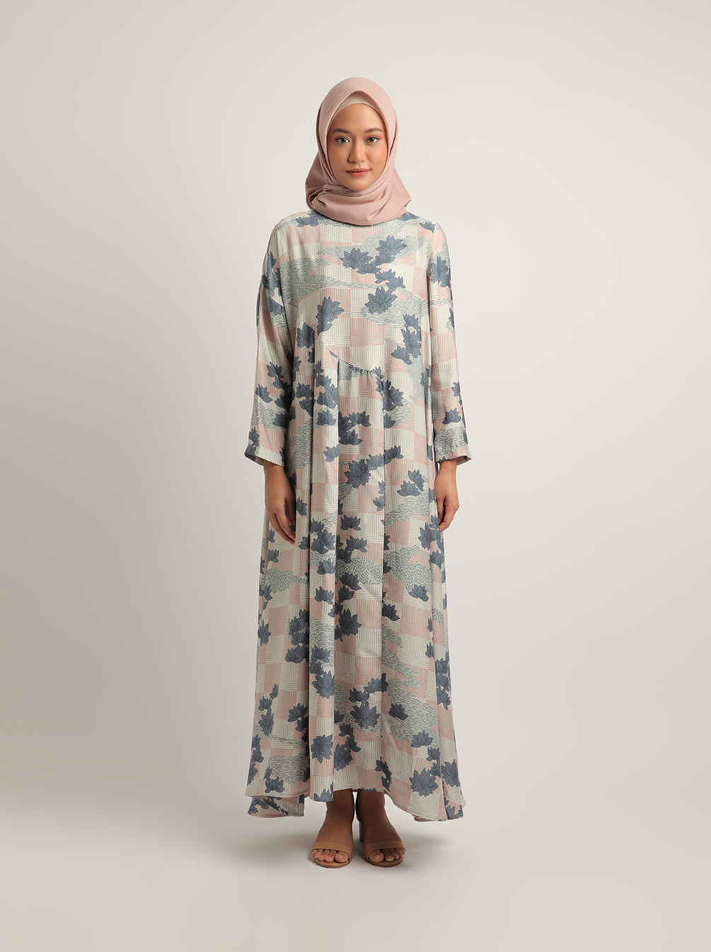 AKASHA DRESS DUSTY BLUE