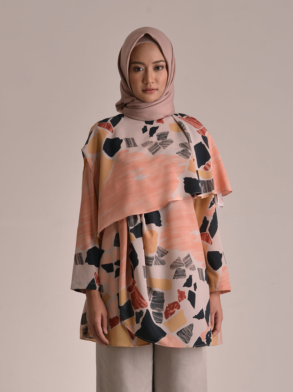 ALIA TOP SALMON FOG