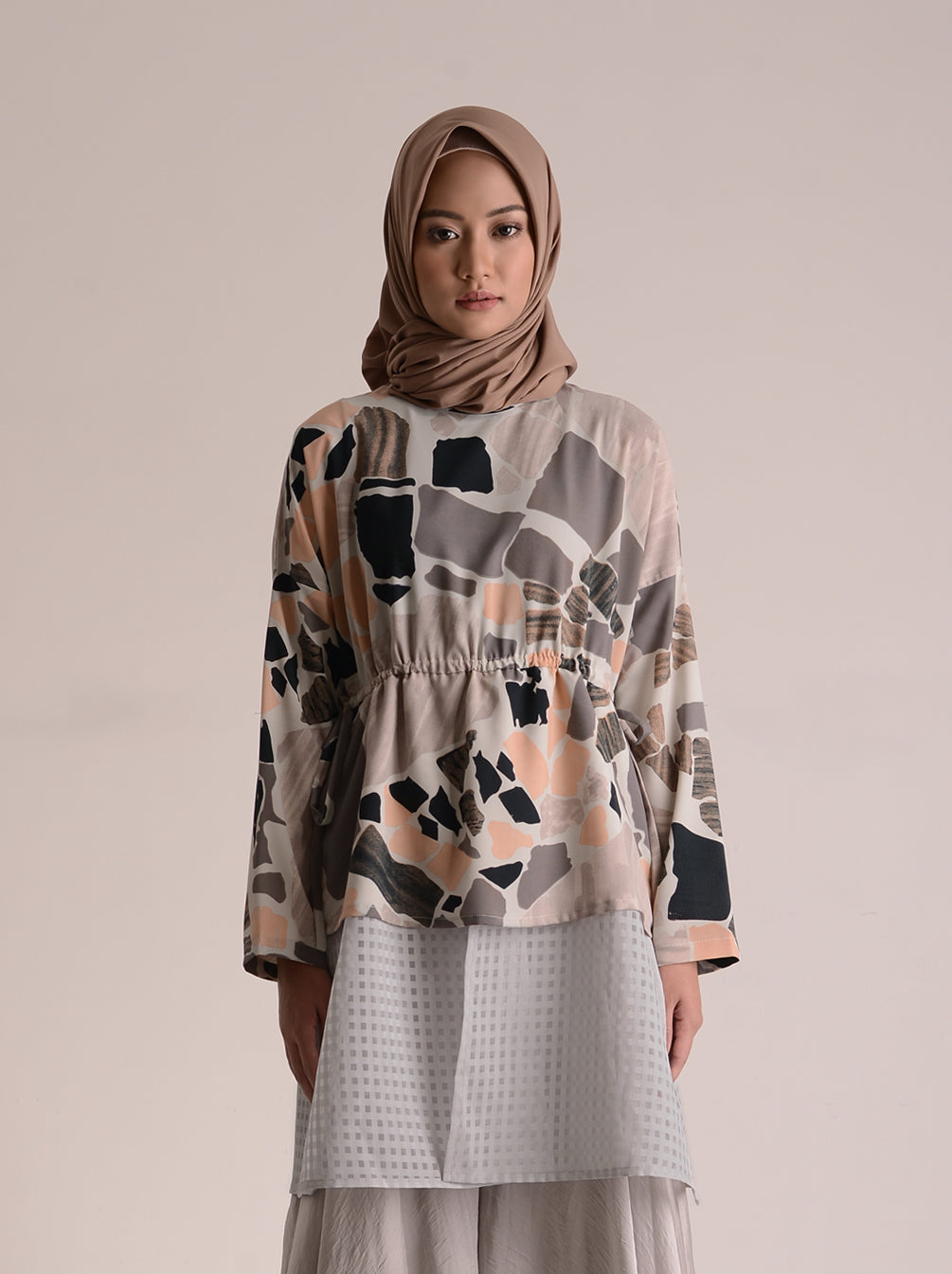 BUSYRA TOP PEBBLE PEACH