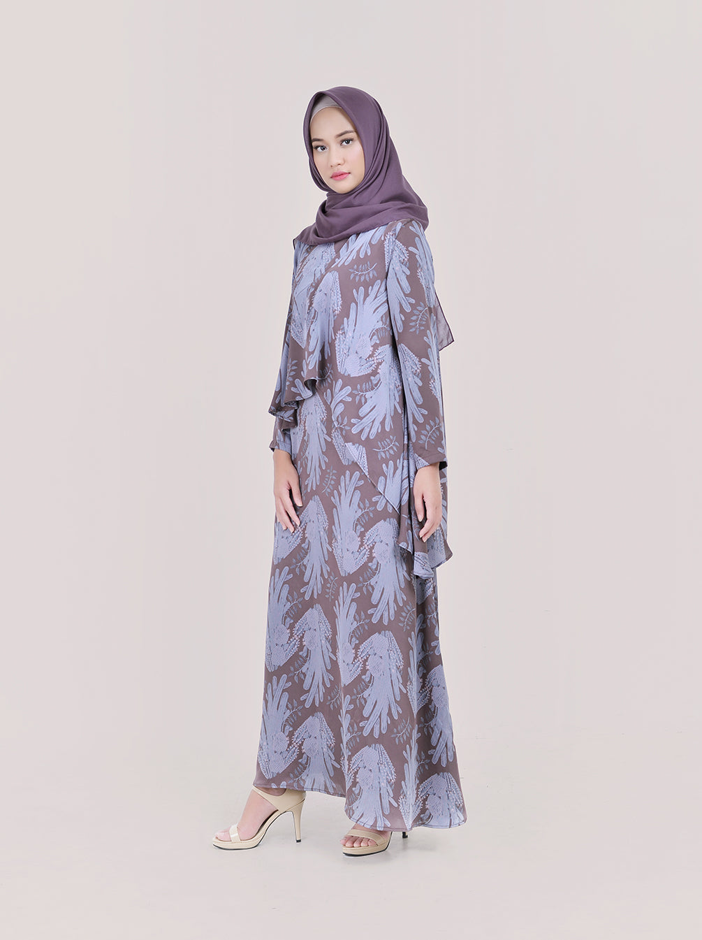 CHOLLA DRESS TAUPE NON EMBELISH