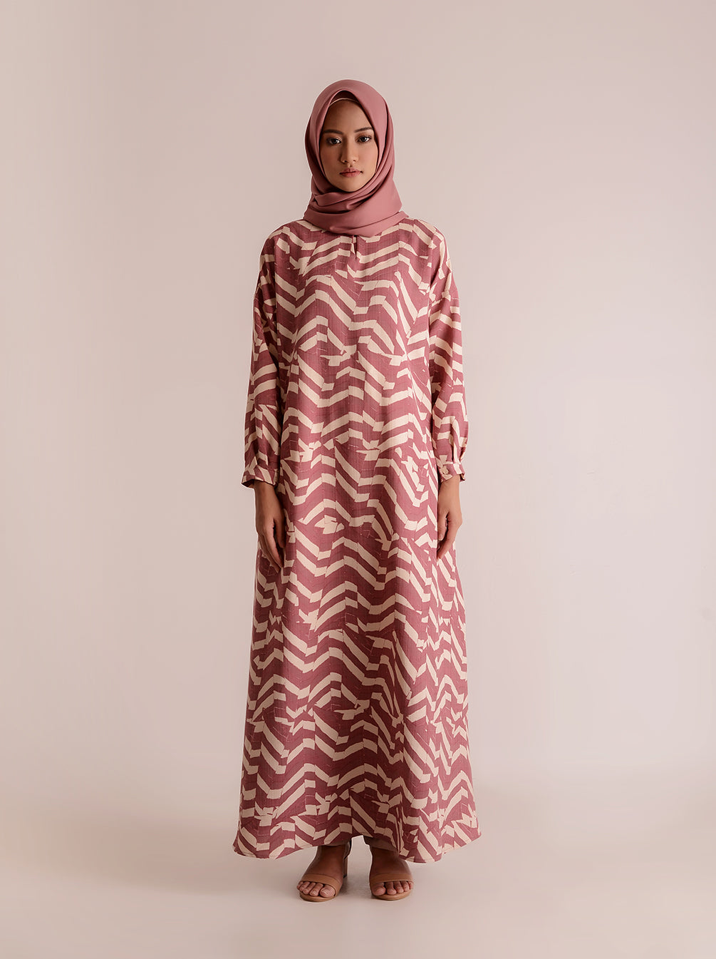 DALMA DRESS TURKISH ROSE