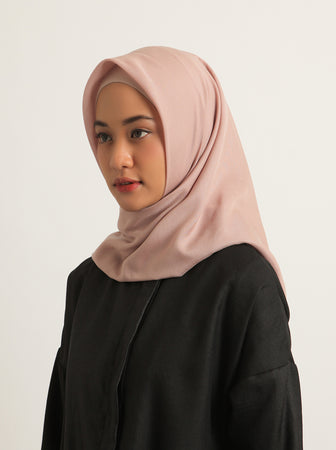VOAL SCARF PLAIN MISTY ROSE