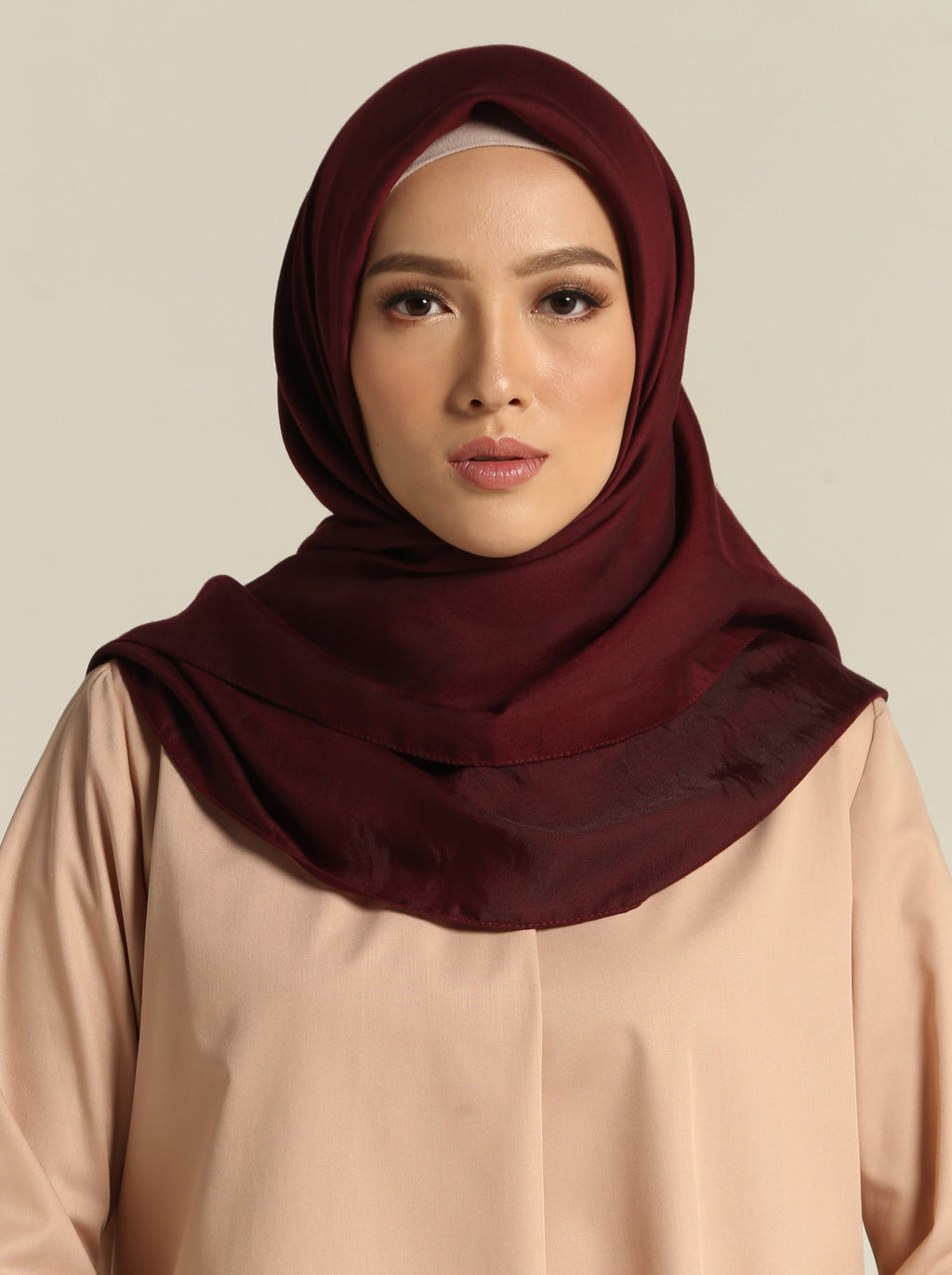 ECHO VOILE SCARF PLAIN RUBY