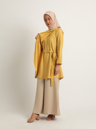 HARLYN BREASTFEEDING TOP PLAIN MUSTARD
