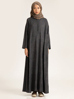 IVELLE DRESS CHARCOAL
