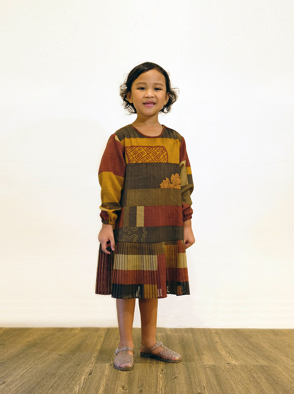 JAYDA DRESS KIDS ANCIENT COPPER