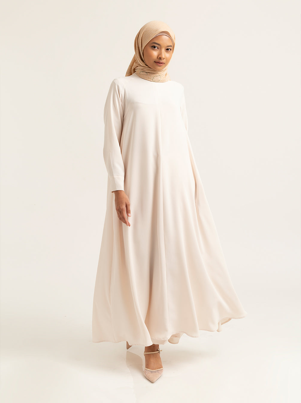 ABENA DRESS PLAIN LUCENT WHITE