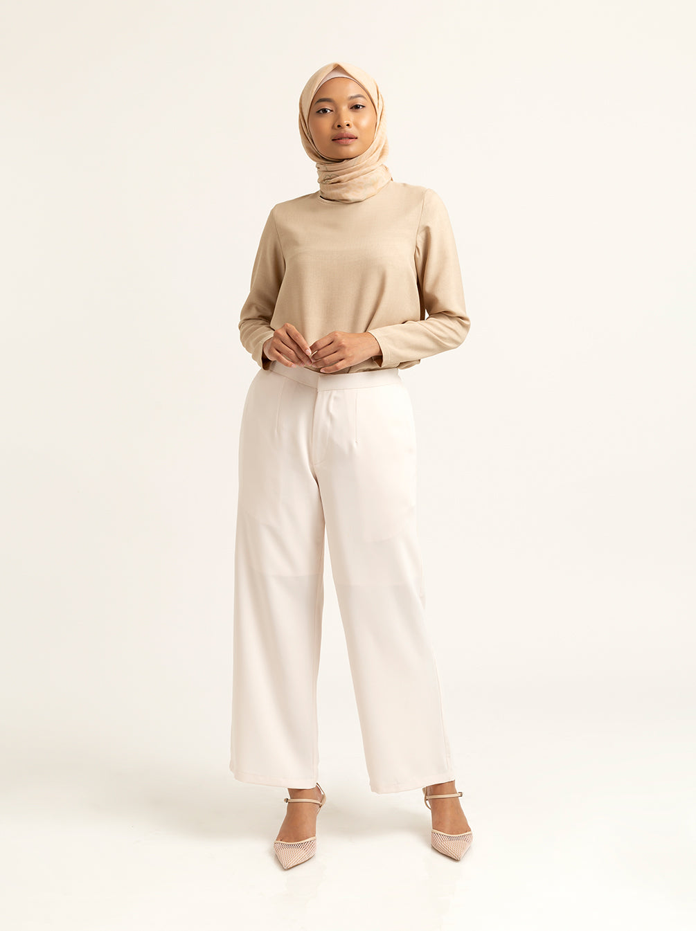 ADELLA PANTS PLAIN LUCENT WHITE