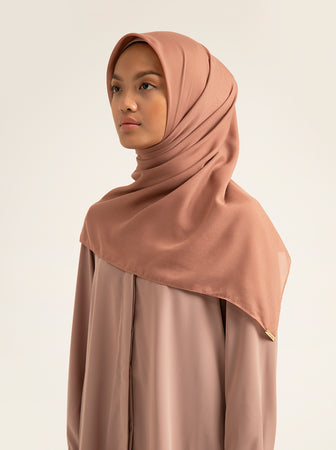 AIRY VOAL SCARF PLAIN BLUSH SKY
