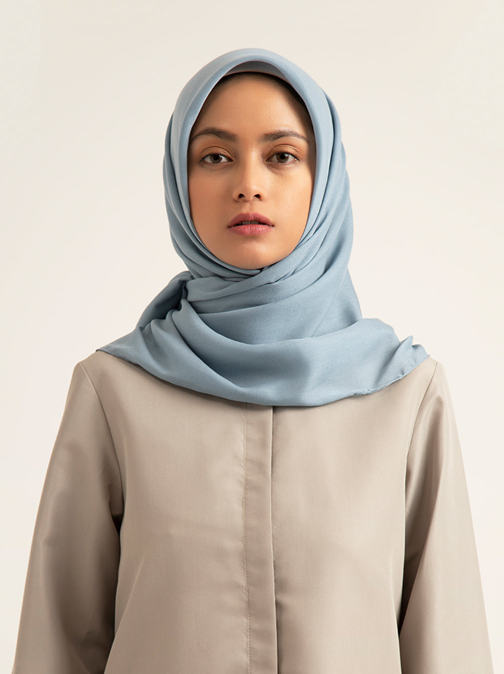 AIRY VOAL SCARF PLAIN STEEL