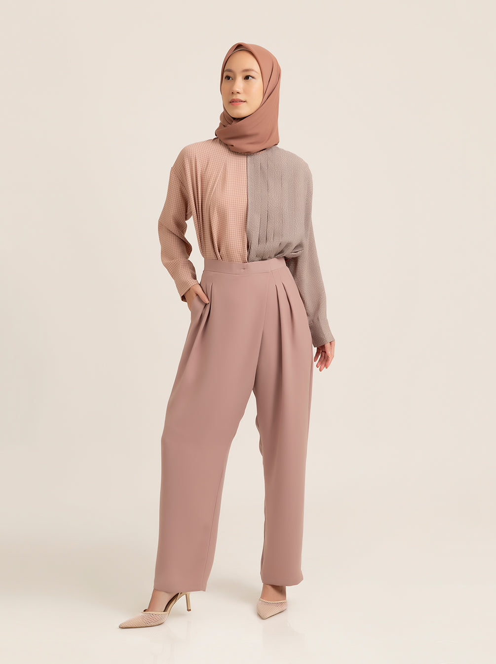 AVON PANTS DUSTY ROSE