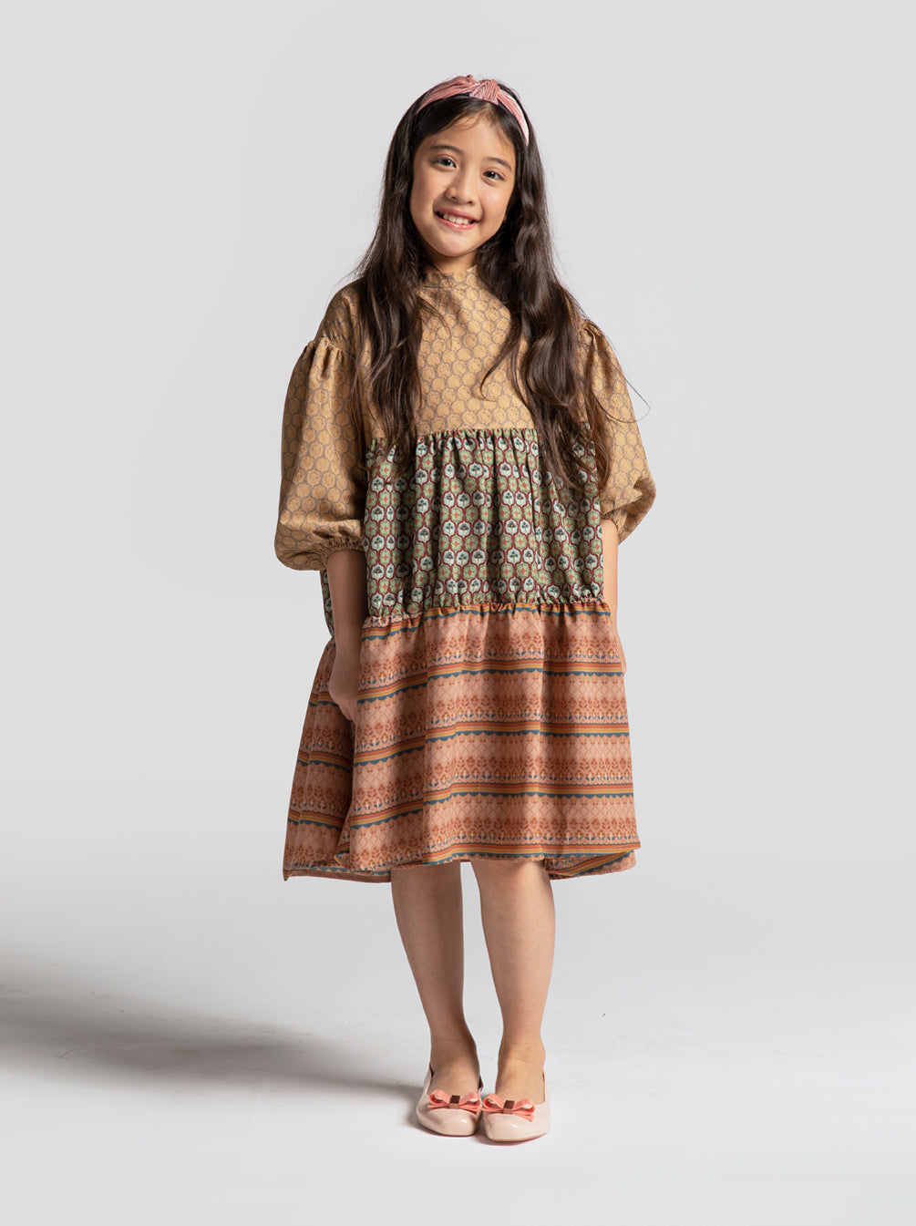 [PRE-ORDER] KIYA DRESS KIDS LIGHT SAND