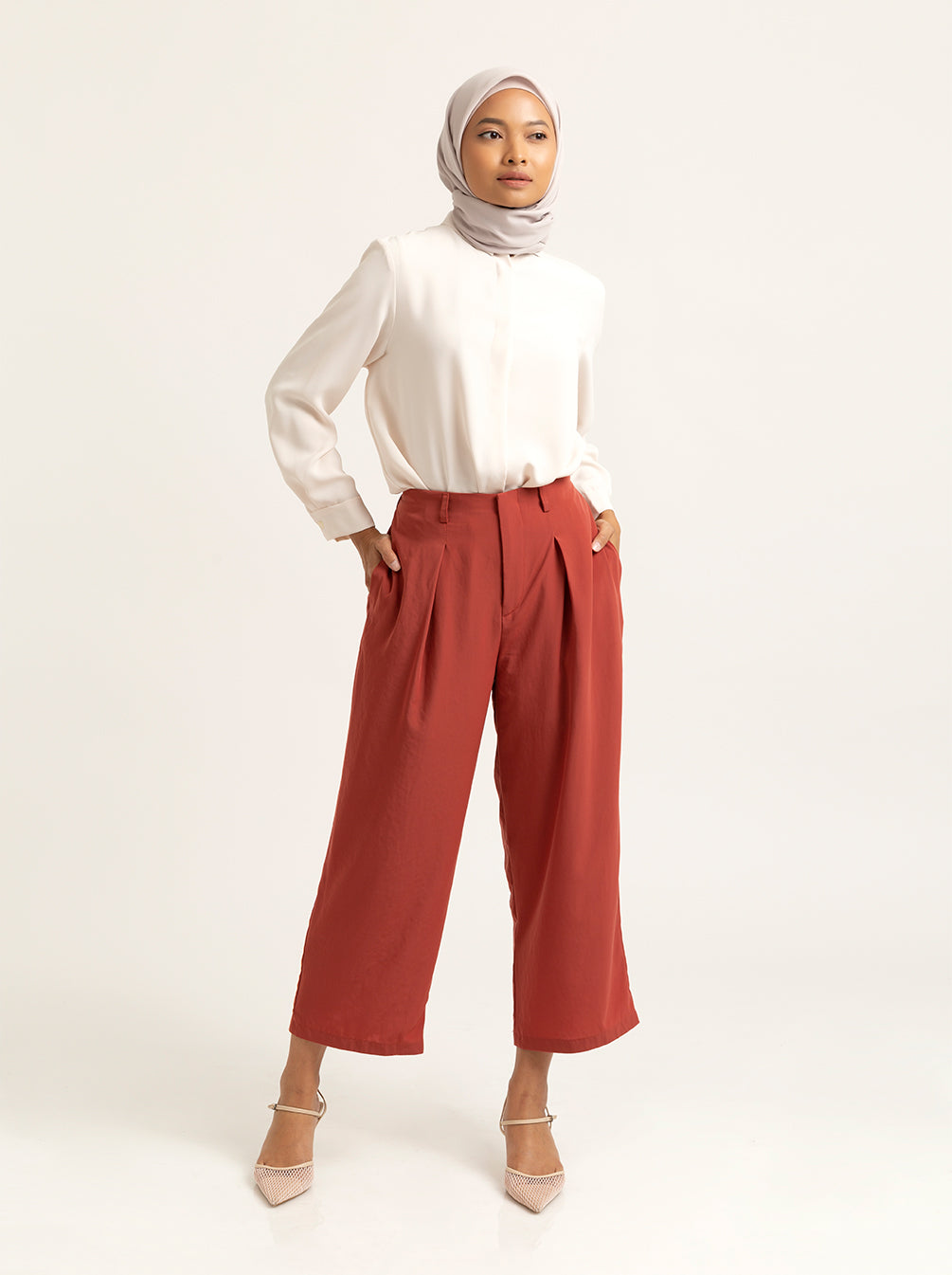 LEYZA PANTS LIGHT TERRA