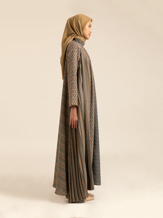 [PRE-ORDER] MISHARI DRESS BREASTFEEDING DUSTY PALM