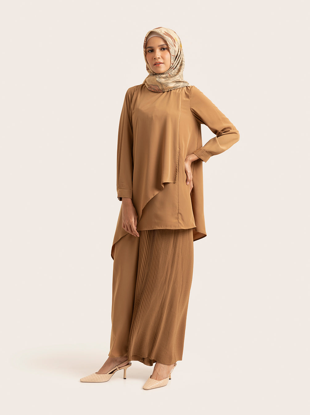 SELENE TOP BREASTFEEDING CARAMEL