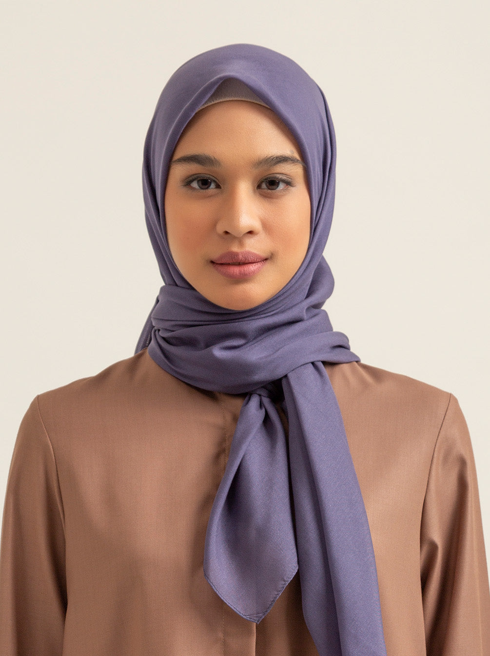 VOAL SCARF PLAIN SPACE BLUE