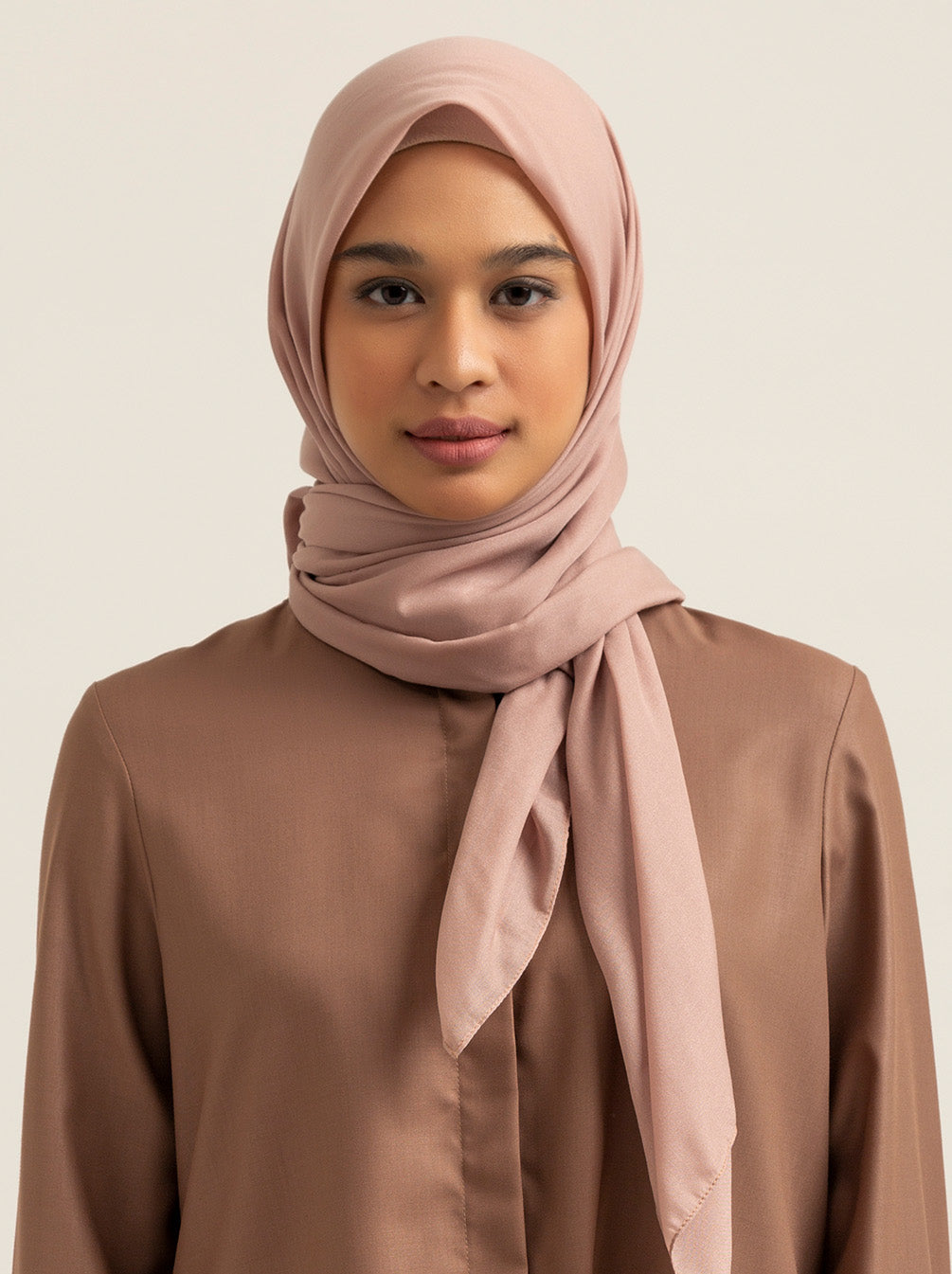 VOAL SCARF PLAIN TAN